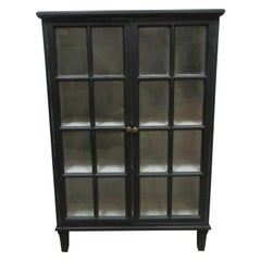 Swedish Gustavian Glass Door Sideboard