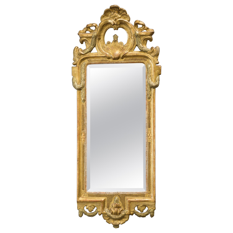 Swedish Gustavian Late 18th Century Giltwood Mirror Signed by Johan Åkerblad