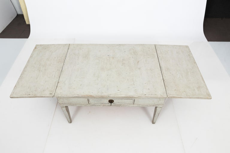 Gustavian Antique White 19th Century Swedish Country Low Table For Sale