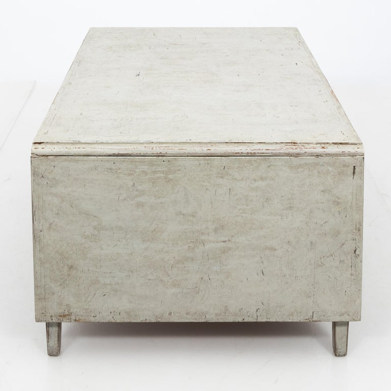 Antique White 19th Century Swedish Country Low Table For Sale 3