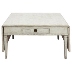 Antique White 19th Century Swedish Country Low Table