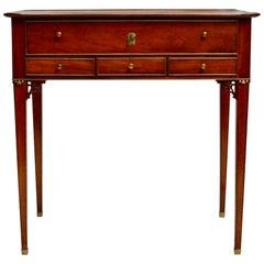 Swedish Gustavian Mahogany Table with Drawers