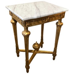 Swedish Gustavian Marble-Top Table