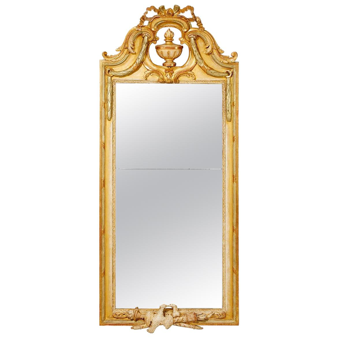 Swedish Gustavian Mirror, 18th Century Signed Johan Åkerblad, Stockholm