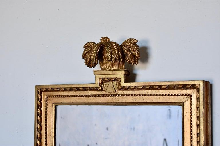 Swedish Gustavian mirror, made in Stockholm, IÅ, Johan Åkerblad (1758-1799)  Excellent gilt work with amazing patina. Marked with Stockholm hallstamp Signed IÅ (See images) Original glass.