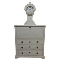 Swedish Gustavian Mora Clock Drop Front Desk