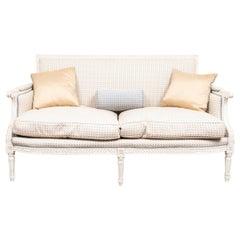 Swedish Gustavian Neoclassical Style Paint Decorated Sofa