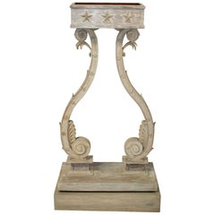 Swedish Gustavian Neoclassical Style Painted Lyre Form Jardinière or Planter