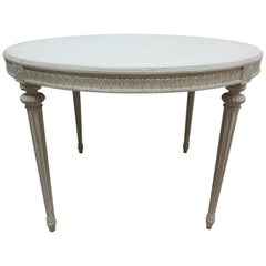 Swedish Gustavian Oval Table