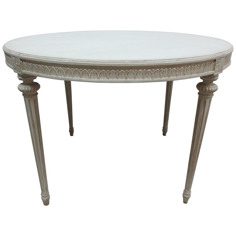 Swedish Gustavian Oval Table For Sale