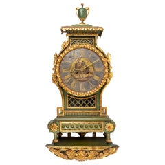 Swedish Gustavian Painted and Giltwood Neoclassical Wall Clock