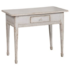 Swedish Gustavian Period 1790s Freestanding Painted Console Table with Drawer