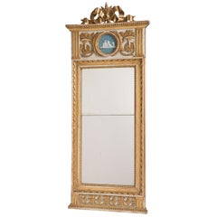 Swedish Gustavian Period Mirror with Divided Glass, circa 1790