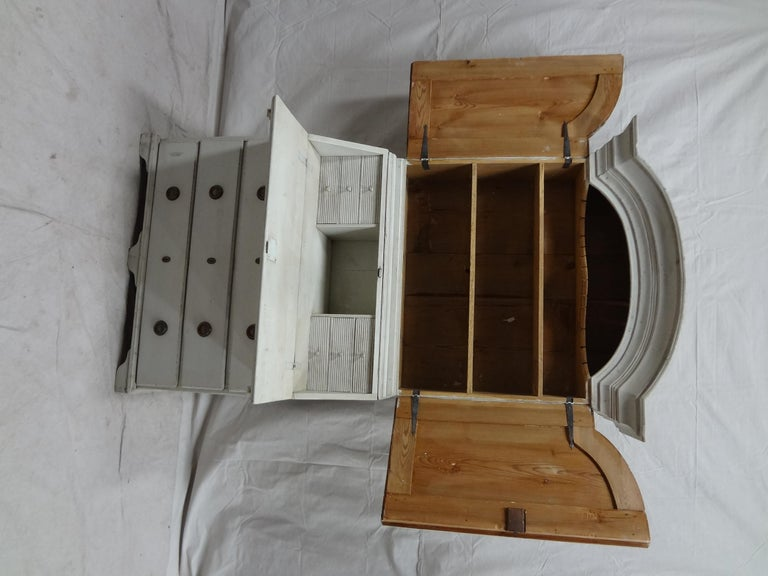 Wood Swedish Gustavian Secretary Hutch For Sale