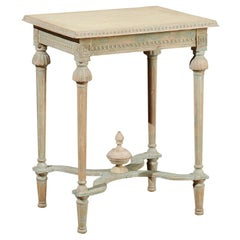 Swedish Gustavian Style 19th Century Painted Console Table with Carved Finial