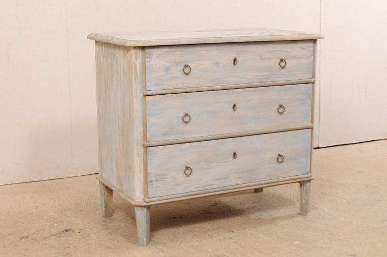 Painted Swedish Gustavian Style Chest, 19th Century For Sale