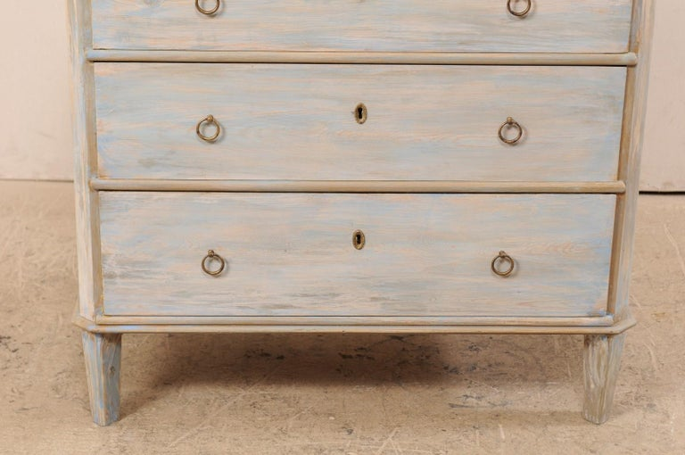 Wood Swedish Gustavian Style Chest, 19th Century For Sale