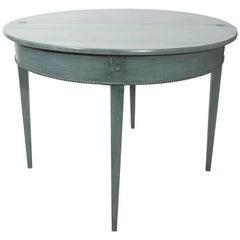 Swedish Gustavian Style Demilune Gate Leg Table