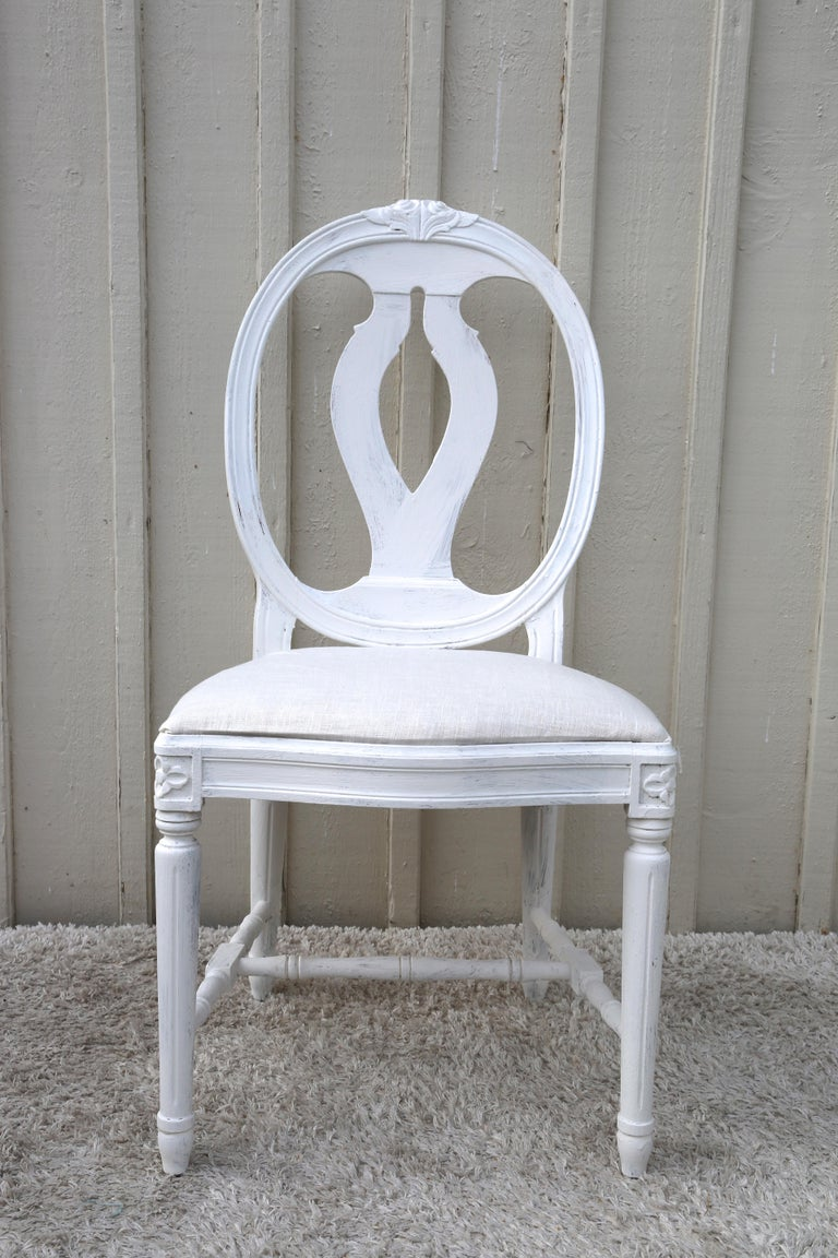 c31f07e19dc12 16 Swedish Gustavian Style Dining Chairs with Oval Backs For Sale at ...