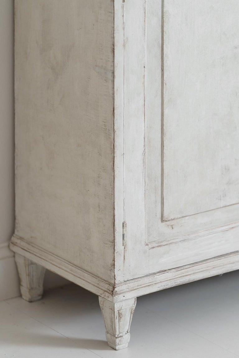 Swedish Gustavian Style Four-Door Glass Vitrine Bookcase Cabinet For Sale 5