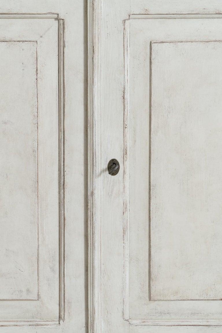 Swedish Gustavian Style Four-Door Glass Vitrine Bookcase Cabinet For Sale 1