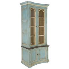 Swedish Gustavian Style Painted Bookshelf Cabinet Bookcase by Lillian August
