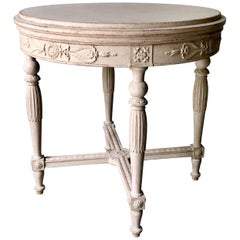 Swedish Gustavian Style Round Table