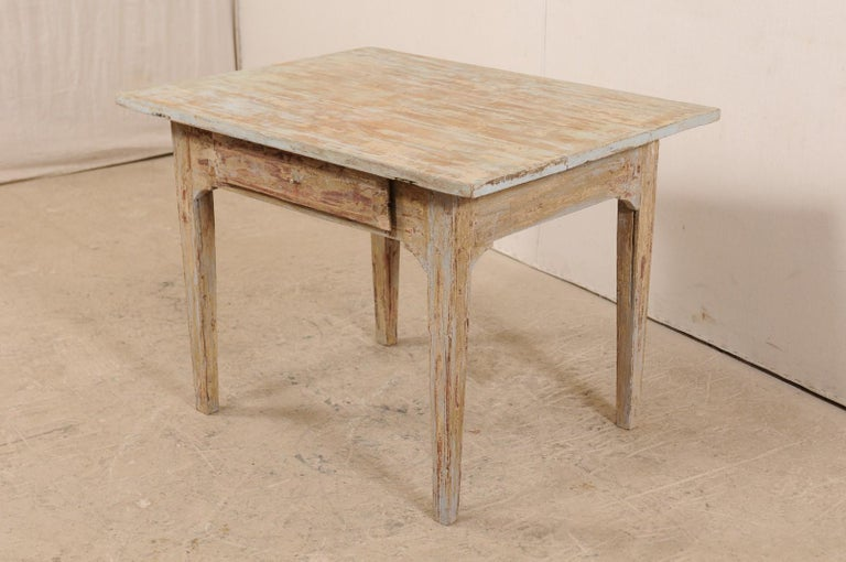 Wood Swedish Gustavian Table, 19th Century For Sale