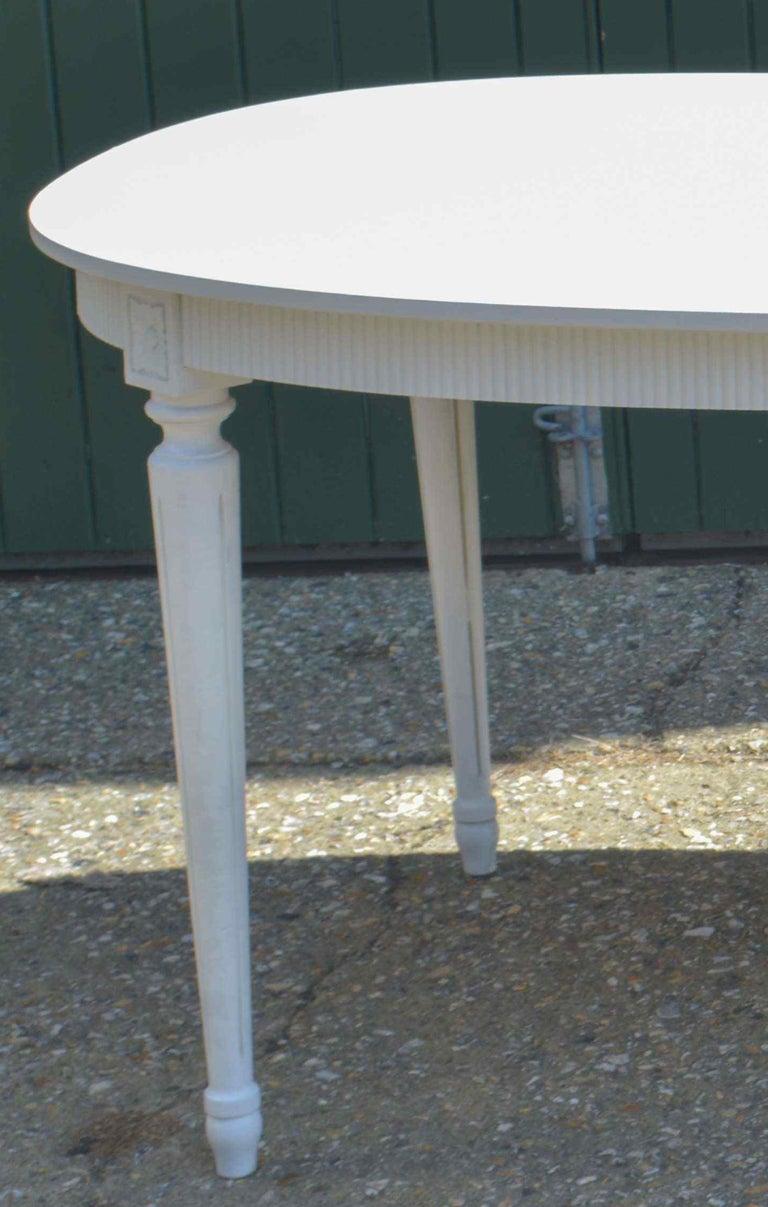 Peachy Swedish Gustavian White Extendable Dining Table Mid 20Th Uwap Interior Chair Design Uwaporg