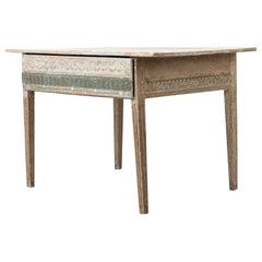 Swedish Gustavian White Pine Wall Table