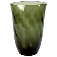 Swedish Handmade Art Deco Gray Glass Vase