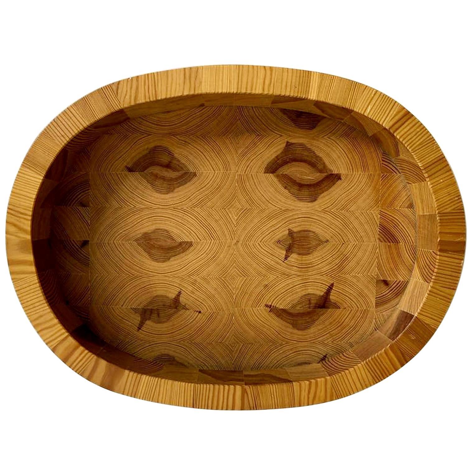 Swedish Handmade Bowl in Pine, Kinfolk Style, circa 1970