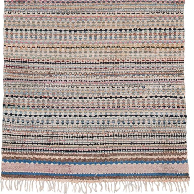 Swedish handwoven flat-weave rug Sweden, 20th century.