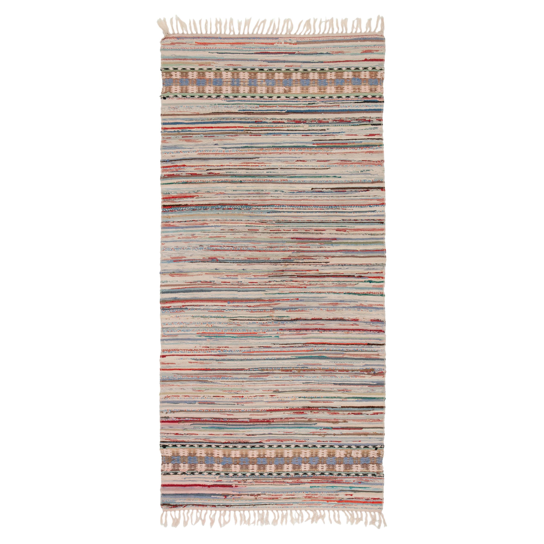 20th Century Swedish Handwoven Flat Weave Rug