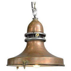 Swedish Industrial Copper Pendant Light, circa 1920s