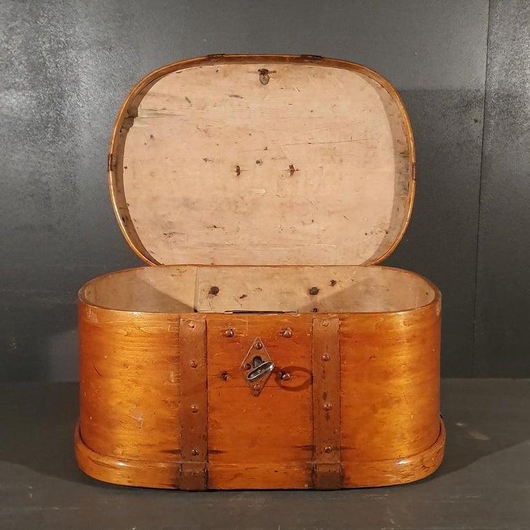 Swedish Iron Bound Bentwood Box For Sale 3