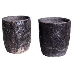 Swedish Iron Garden Vases, 19th C