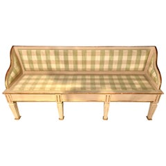 Swedish Italian Parcel Gilt and Paint Decorated Settee or Sofa