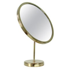 Swedish Josef Frank Brass Table Mirror, Svenskt Tenn, 1950s
