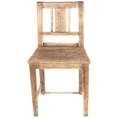 Swedish Karl Johan Chair in Pine from Late 1800s