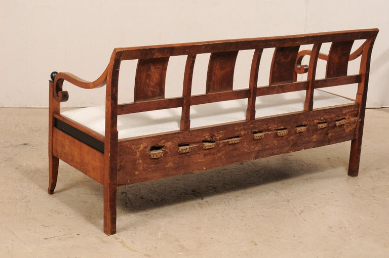 Swedish Karl Johan Style Sofa Bench from the Mid-19th Century For Sale 6