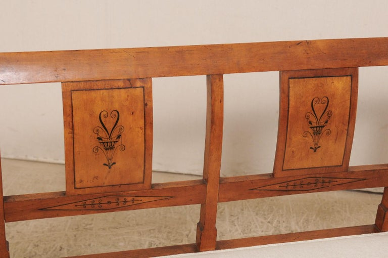 Swedish Karl Johan Style Sofa Bench from the Mid-19th Century For Sale 1