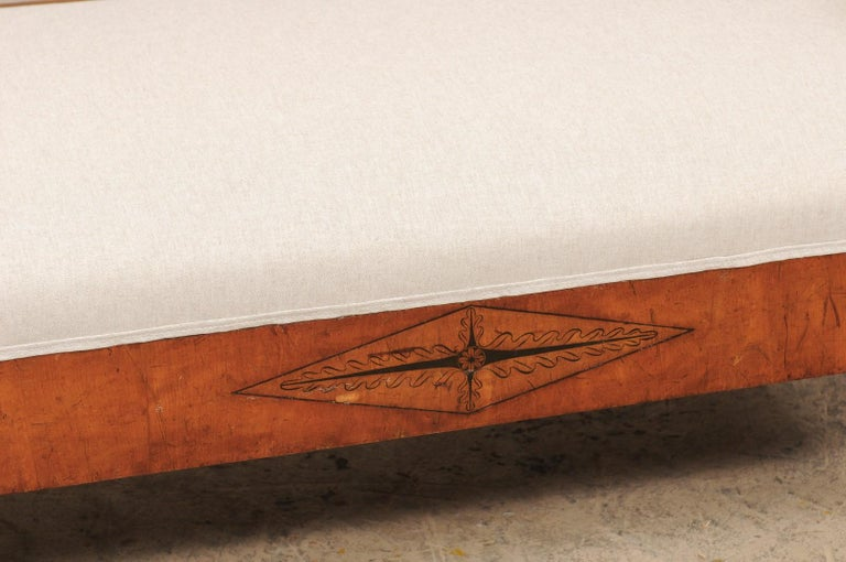 Swedish Karl Johan Style Sofa Bench from the Mid-19th Century For Sale 2