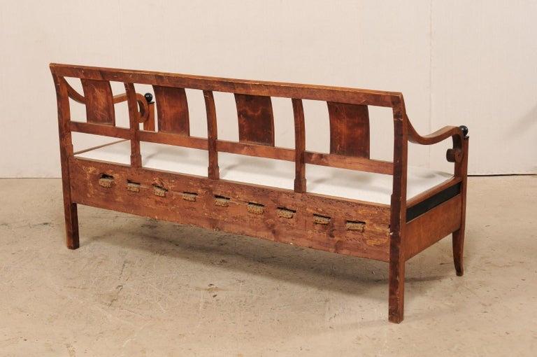 Swedish Karl Johan Style Sofa Bench from the Mid-19th Century For Sale 4