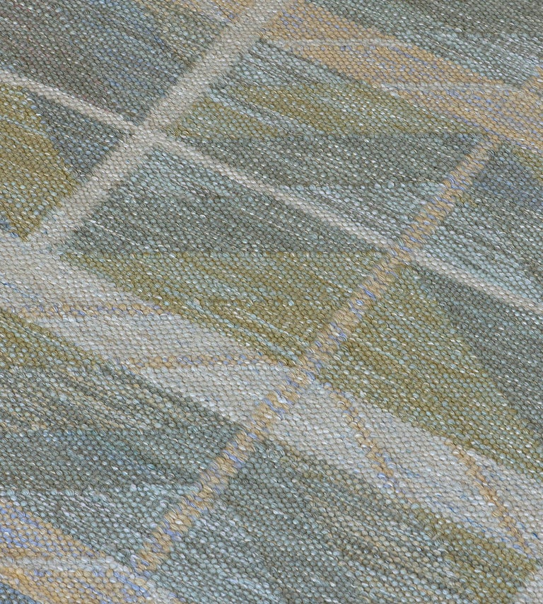 The Mansour Modern Swedish collection is primarily inspired by vintage Swedish flat-weave rugs whose geometric designs are relevant as ever in the 21st century. The collection utilizes a number of flat-weave techniques, yielding various distinctive