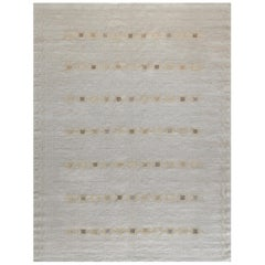 Swedish Kilim Inspired Handwoven Wool Rug