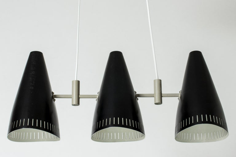 Swedish Lacquered Metal Ceiling Lamp by Eje Ahlgren for Luco, 1950s In Good Condition For Sale In Stockholm, SE