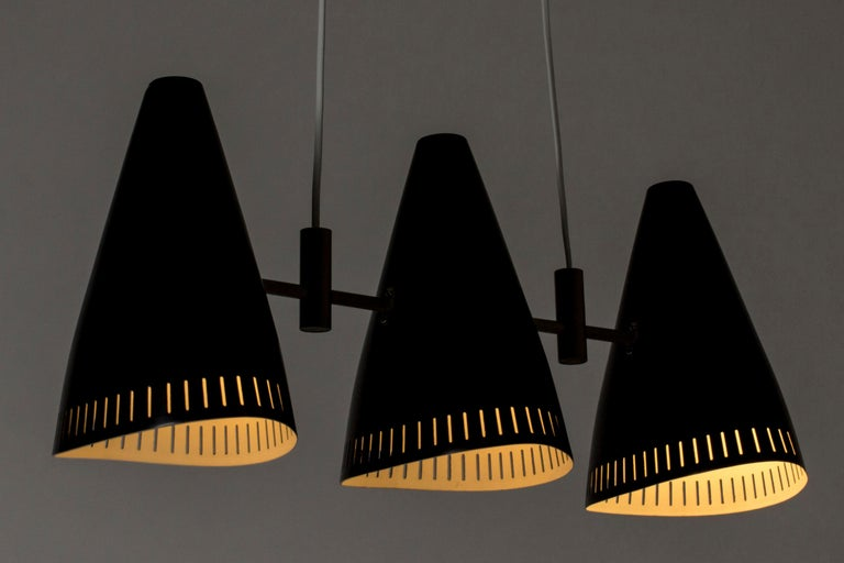 Swedish Lacquered Metal Ceiling Lamp by Eje Ahlgren for Luco, 1950s For Sale 2