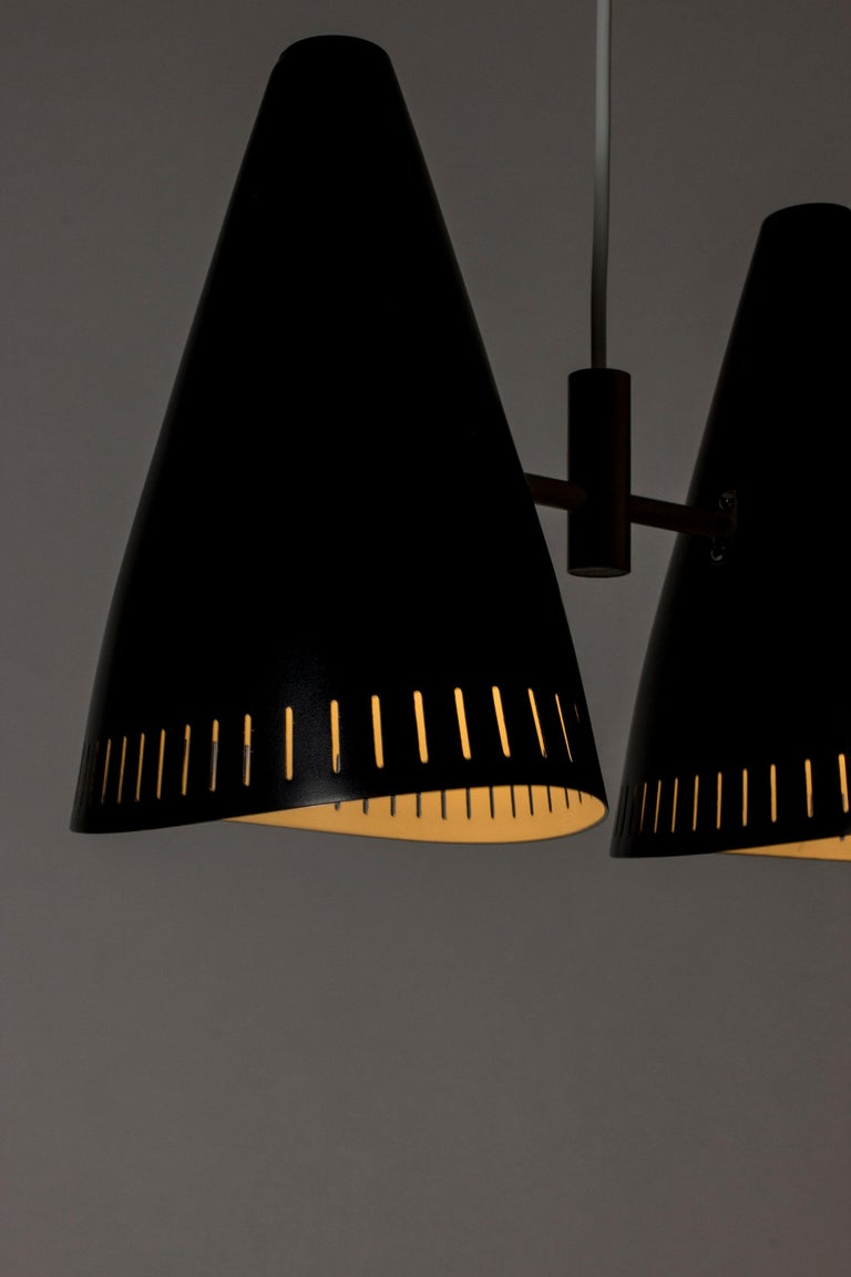 Swedish Lacquered Metal Ceiling Lamp by Eje Ahlgren for Luco, 1950s For Sale 3
