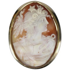 Swedish Large Cameo Brooch in 18 Karat Gold by Olof Nilson, 1919